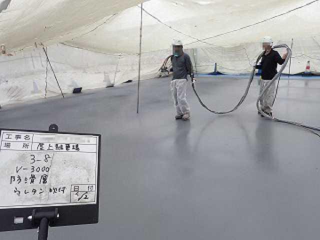工事中:屋上防水