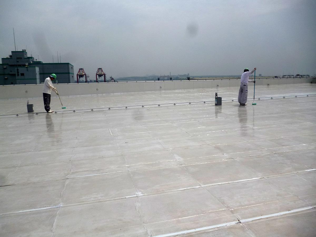 屋上防水:工事中