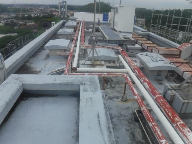 屋上塗装・防水工事施工前