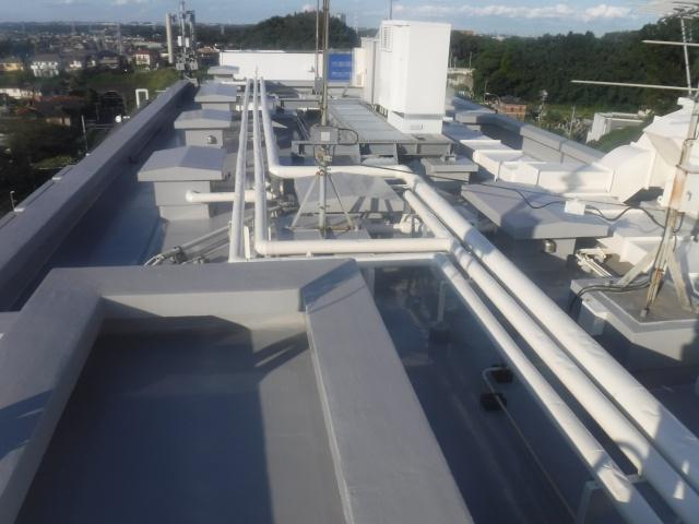 屋上塗装・防水工事施工後
