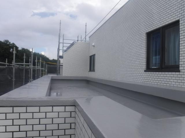 ルーフバルコニー防水工事施工後
